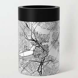 Boston White Map Can Cooler
