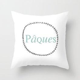 Pâques  Throw Pillow