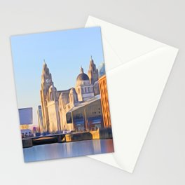 Albert Dock And the 3 Graces Stationery Cards