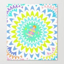 Floral swim Canvas Print