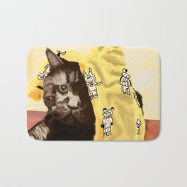 Dismayed Black Cat Bath Mat