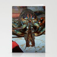 lobster Stationery Cards featuring Lobster by DanByTheSea