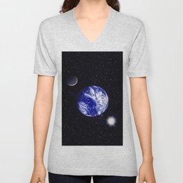 The blue Planet. Unisex V-Neck
