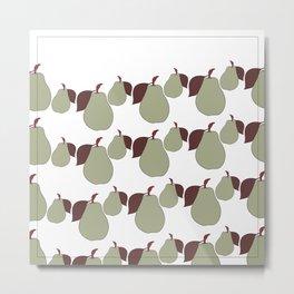 Pear Fruit Art / Simplicity Metal Print