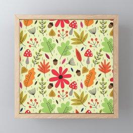 Autumn woods foliage pattern Framed Mini Art Print