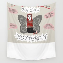 Social(ly Anxious) Butterfly Wall Tapestry