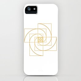 Golden Pinwheel iPhone Case