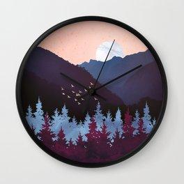 Mulberry Dusk Wall Clock