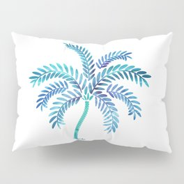Whimsical Watercolor Palm Tree Pillow Sham