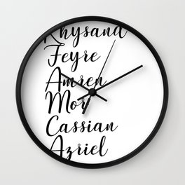 Night Court Names Wall Clock