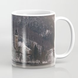 Bled Island Dusted With Snow Coffee Mug