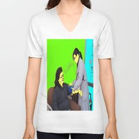 doctor V-neck T-shirts featuring Doctor by lookiz