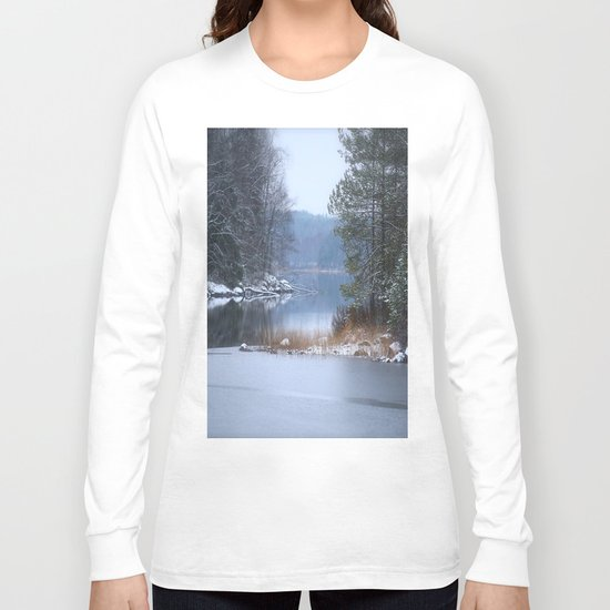 Blue Moment By The Lake  Long Sleeve T-shirt