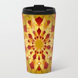 Golden Rays Abstract Mandala Travel Mug