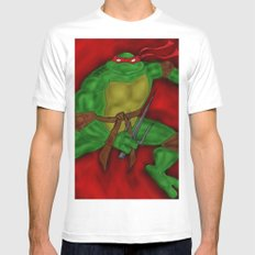 Raphael White MEDIUM Mens Fitted Tee