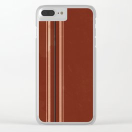 Brown Poncho Pattern Clear iPhone Case