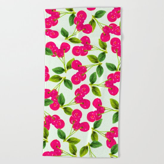 Cherry Picking #society6 #decor #buyart Beach Towel