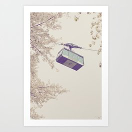 spring cable car Art Print