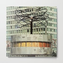 East berlin Weltzeituhr Metal Print