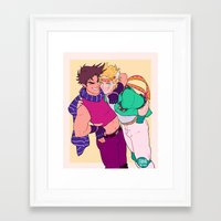 johannathemad Framed Art Prints featuring caejose by JohannaTheMad