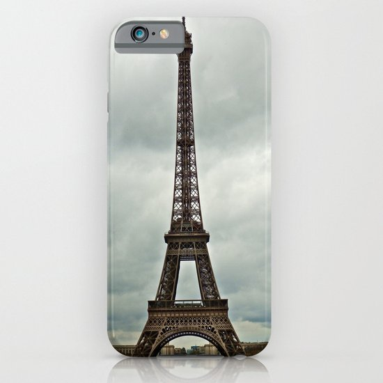 Eiffel Tower on a Cloudy Day iPhone & iPod Case