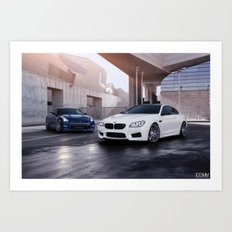 BMW M6 and Nissan GT-R Art Print
