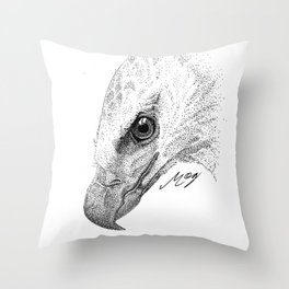 Harpy Eagle Stippling Throw Pillow
