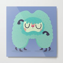 M is for Monster Metal Print