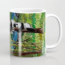 Six Baby Pandas in a Tree Coffee Mug