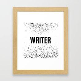 WRITER Framed Art Print