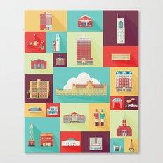 Stockton Landmarks Canvas Print