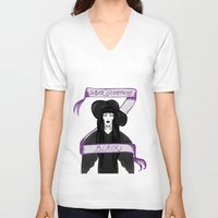 witch V-neck T-shirts featuring Witch by nach-o-kid