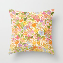 Nostalgia in the garden Throw Pillow