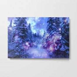 Mystical Snow Winter Forest Metal Print
