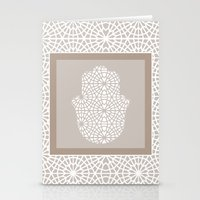 islam Stationery Cards featuring Hamsa in morrocan pattern by Heaven7