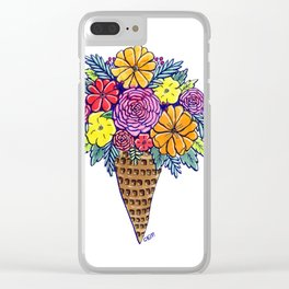 Floral Joy Clear iPhone Case