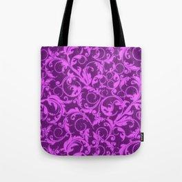 Vintage Swirls Winterberry Orchid Purple Tote Bag