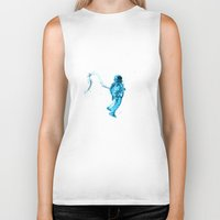 astronaut Biker Tanks featuring Astronaut by Augusto Melo