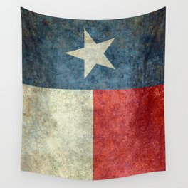 Texas flag, Retro style Vertical Banner Wall Tapestry