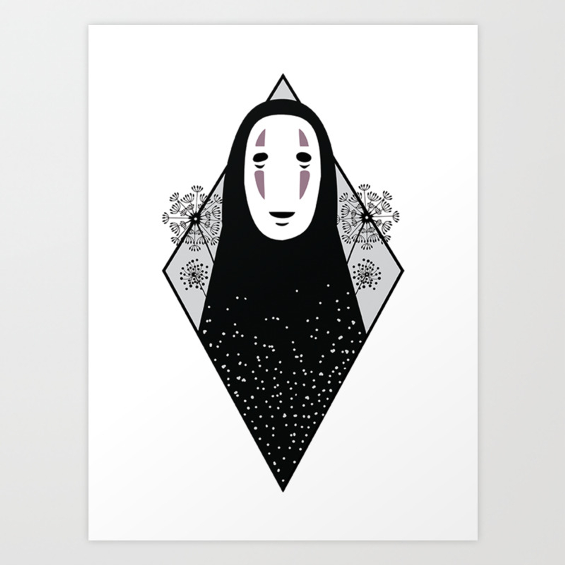 No Face Hayao Miyazaki S Spirited Away Art Print By