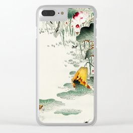 Frog in the swamp  - Vintage Japanese Woodblock Print Art Clear iPhone Case