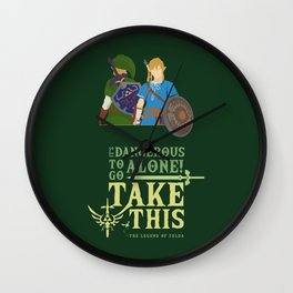 The legend of zelda - Minimalist Quote Game Wall Clock