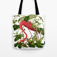 flamingo Tote Bags featuring Flamingo by Fifikoussout