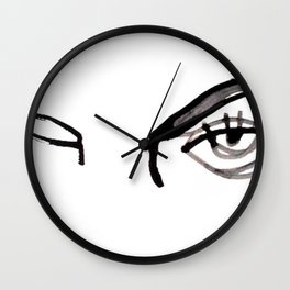 inked eyes Wall Clock