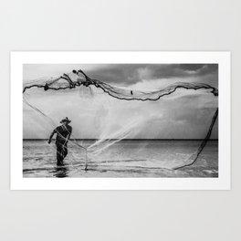 Casting the net Art Print