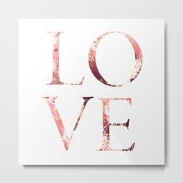 love beautiful  floral text Metal Print