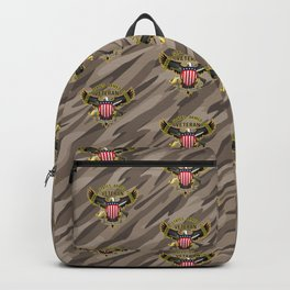 United States Armed Forces Military Veteran Eagle - Proudly Served Backpack