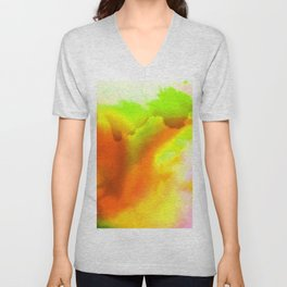 Abstract Bliss 1H by Kathy Morton Stanion Unisex V-Neck