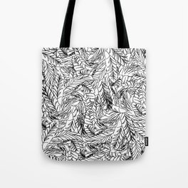 Black and White Feathers Tote Bag