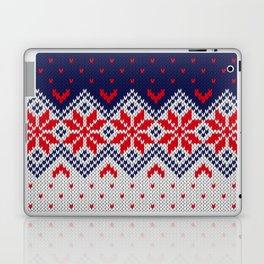 Winter knitted pattern 11 Laptop & iPad Skin